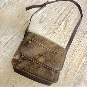 Vintage Paisley Relic Purse Leather crossbody